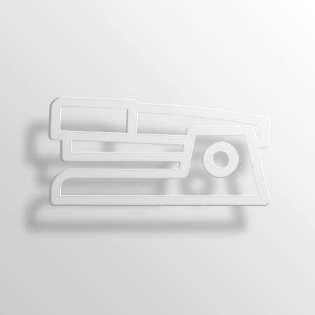 office stapler: Stapler 3D Paper Icon Symbol Business Concept No.12411 Stock Photo