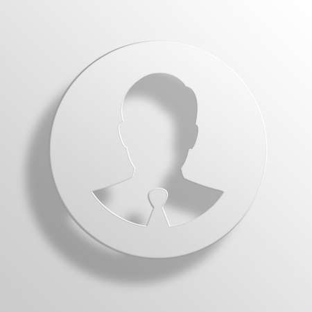 retailers: Businessman 3D Paper Icon Symbol Business Concept No.12518 Stock Photo