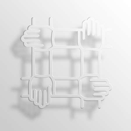 throb: teamwork 3D Paper Icon Symbol Business Concept No.10144 Stock Photo