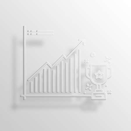 achivement: ACHIVEMENT 3D Paper Icon Symbol Business Concept No.5323 Stock Photo