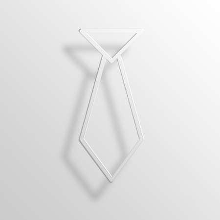 throb: necktie 3D Paper Icon Symbol Business Concept No.9081