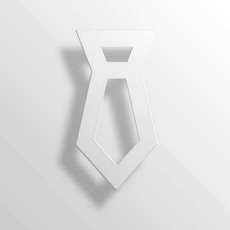 necktie 3D Paper Icon Symbol Business Concept No.9452 Stock Photo
