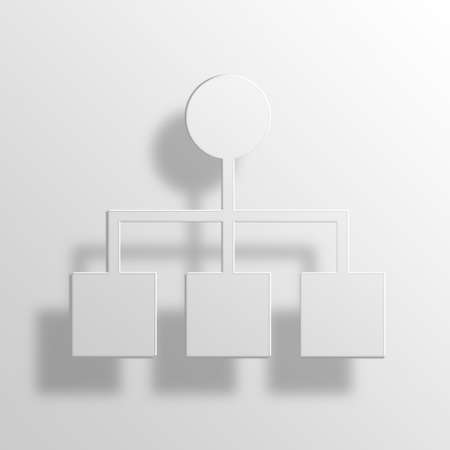 allocate: organization 3D Paper Icon Symbol Business Concept No.10949