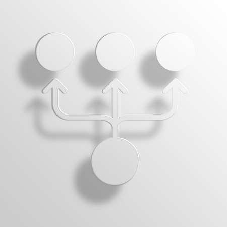 organizational chart 3D Paper Icon Symbol Business Concept No.13821