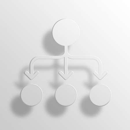 organizational chart 3D Paper Icon Symbol Business Concept No.13842