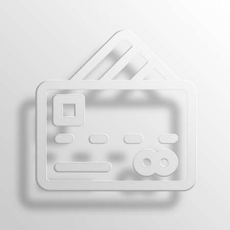 Credit Card 3D Paper Icon Symbol Business Concept No.10352