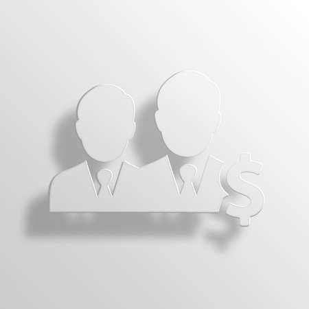 retailer: businessmen 3D Paper Icon Symbol Business Concept No.11388 Stock Photo