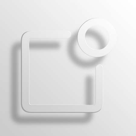 rolodex: notification 3D Paper Icon Symbol Business Concept No.11860 Stock Photo
