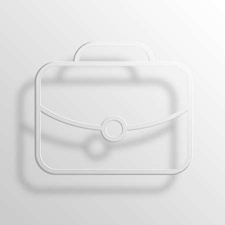 notecase: Briefcase 3D Paper Icon Symbol Business Concept No.7229