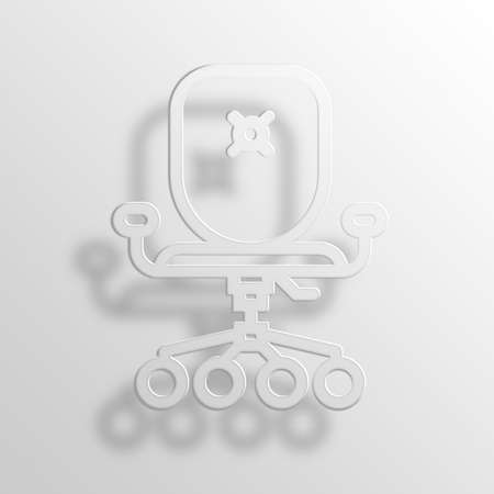 office furniture: office chair 3D Paper Icon