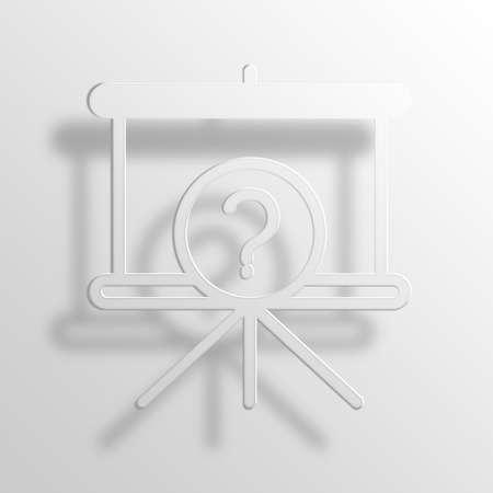 What is Presentation 3D Paper Icon Symbol Business Concept No.7972