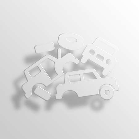 scrapyard: Junkyard 3D Paper Icon Symbol Business Concept No.13583