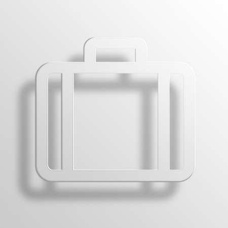 throb: Briefcase 3D Paper Icon Symbol Business Concept No.9335 Stock Photo