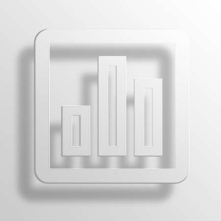 bar chart 3D Paper Icon