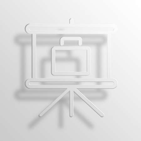 bisiness: business presentation 3D Paper Icon