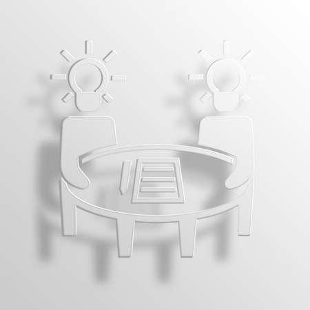 conceptions: brainstorming 3D Paper Icon Symbol Business Concept No.13553