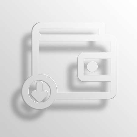 Download Wallet 3D Paper Icon Symbol Business Concept No.9473 Stock Photo