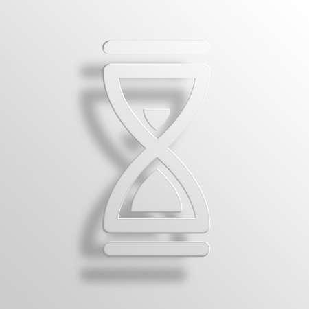 hourglass 3D Paper Icon Symbol Business Concept No.8634