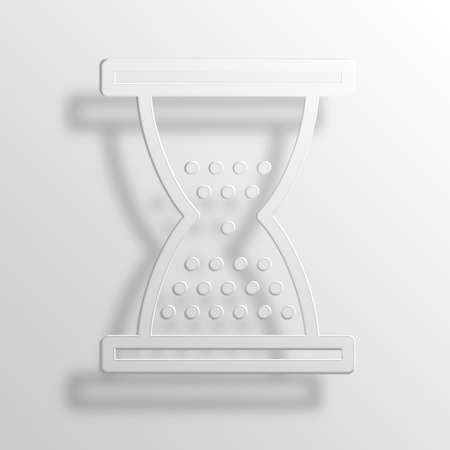 hourglass 3D Paper Icon Symbol Business Concept No.11013 Stock Photo