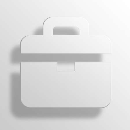 Briefcase 3D Paper Icon Symbol Business Concept No.9093 Stock Photo