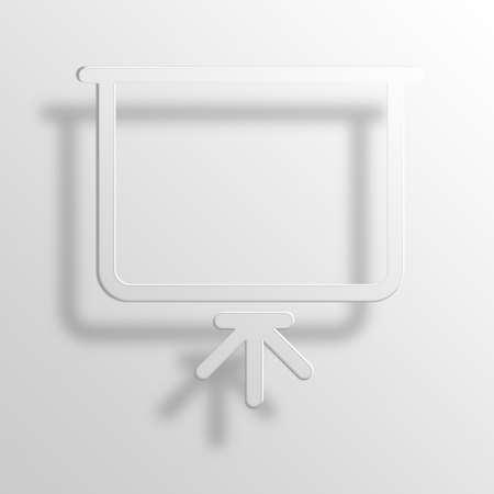 Presentaion 3D Paper Icon Symbol Business Concept Stock Photo