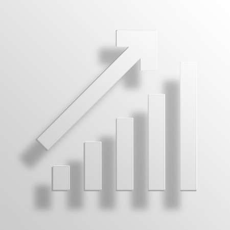 equate: bar chart 3D Paper Icon Symbol Business Concept No.11913 Stock Photo