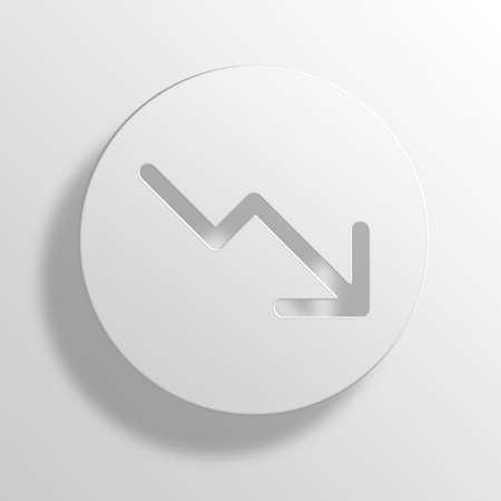 bar magnet: Bear Market 3D Paper Icon Symbol Business Concept No.11498