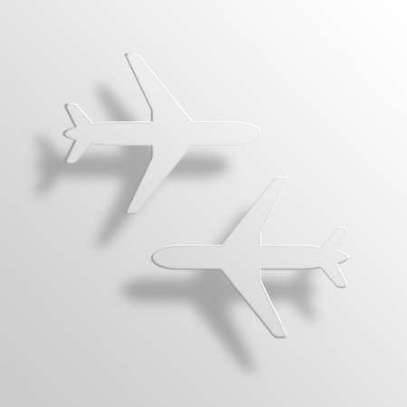Planes 3D Paper Icon Symbol Business Concept No.10721 Stock Photo