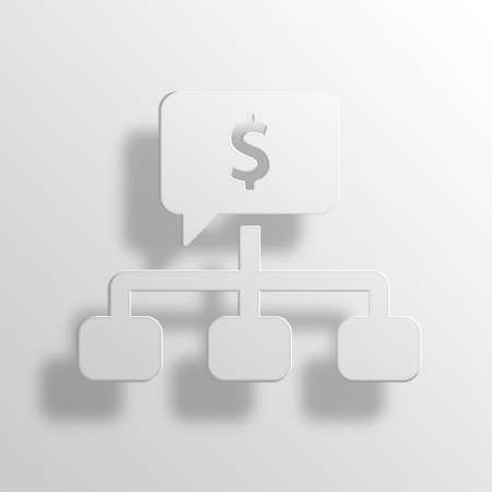 scheming: Planning 3D Paper Icon Symbol Business Concept No.10164