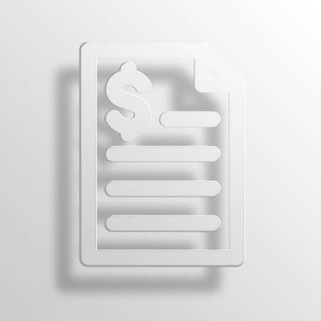 loaning: dollar loan 3D Paper Icon Symbol Business Concept No.11561 Stock Photo