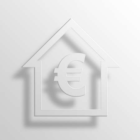 Euro Equity 3D Paper Icon Symbol Business Concept No.10851