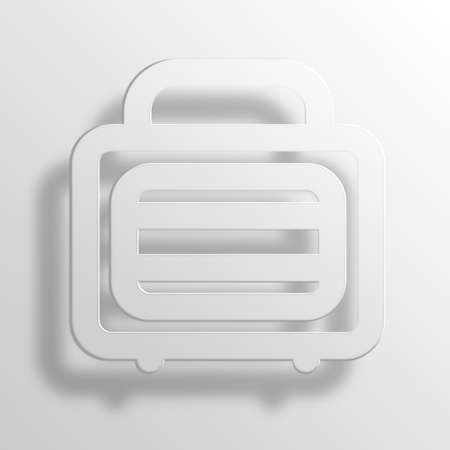 metalic: Metalic Suitcase 3D Paper Icon Symbol Business Concept No.5202