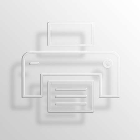 Printer 3D Paper Icon Symbol Business Concept No.7796