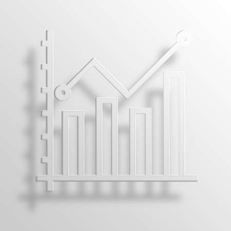 throb: business chart 3D Paper Icon Symbol Business Concept No.10552 Stock Photo