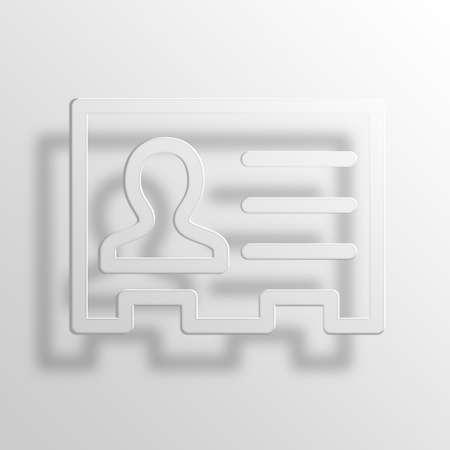 rolodex: business contact 3D Paper Icon Symbol Business Concept No.7760
