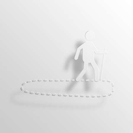 jargon: Circle Back 3D Paper Icon Symbol Business Concept No.12078