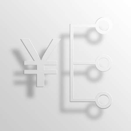 Money 3D Paper Icon Symbol Business Concept No.9652 Stock Photo