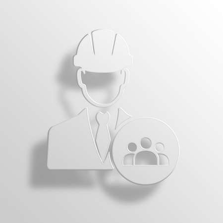 manager engineer 3D Paper Icon Symbol Business Concept No.11684