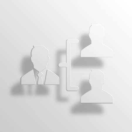 manager 3D Paper Icon Symbol Business Concept No.4701 Stock Photo