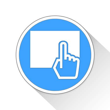 kiosk Button Icon Concept No.8518
