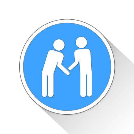 handgrip: deal Button Icon Concept No.12605 Stock Photo