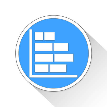bar chart Button Icon Concept No.13452