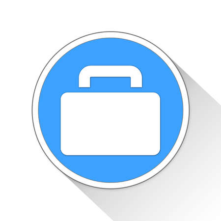 outbreak: Briefcase Button Icon Concept No.10957 Stock Photo