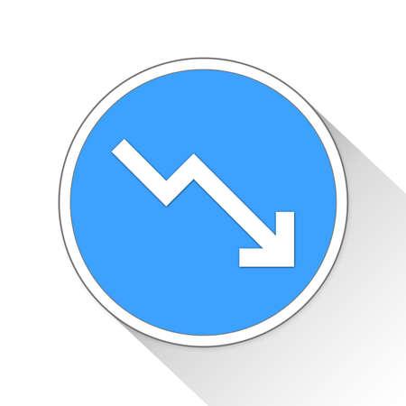 descending: Loss Chart Button Icon Concept No.2662