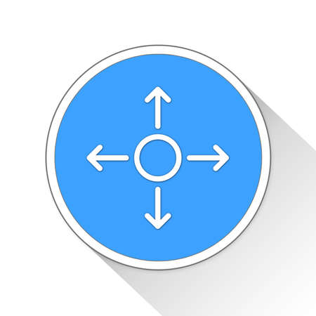 directions icon: directions Button Icon Concept No.11629 Stock Photo