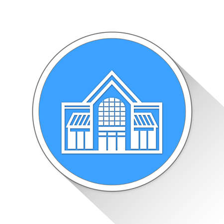 awnings windows: shopping mall Button Icon Concept No.10447