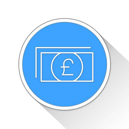 throb: pounds Button Icon Concept No.11530