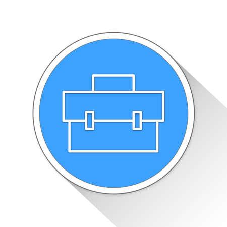 notecase: Briefcase Button Icon Concept No.1114