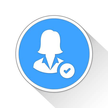 accepted Button Icon Concept No.9129 Stock Photo