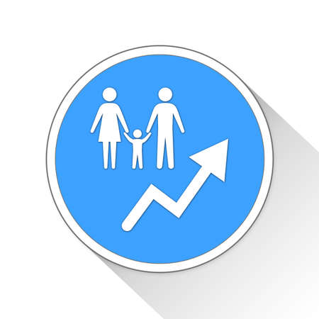 Population Growth Button Icon Concept No.10785 Stock Photo